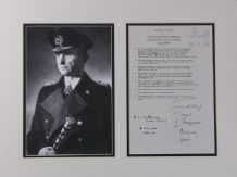 Karl Doenitz Autograph Display